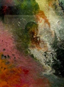 Maria Medrano - Wonderland Oil, Acrylic, Gesso , Resin on Canvas, Mixed Media