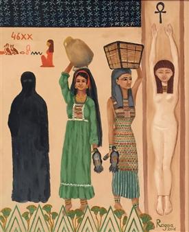 Ragaa Mansour - 46 XX Oil on Canvas, Paintings