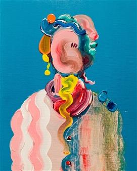 Kazusa Matsuyama - -Anonymous Portrait 04- Acrylic on Canvas, Paintings
