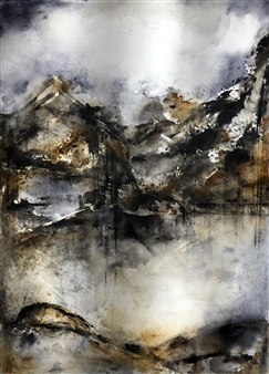 Dana Ingesson - Hidden Tears of Mountain Watercolor on Paper, Paintings