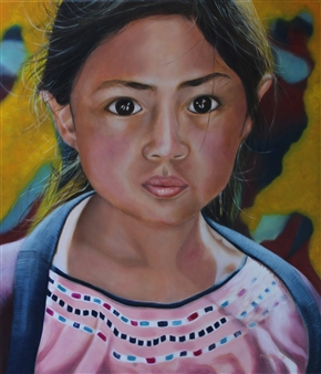 Maria Antonia Mena Lagos - Lucia Oil on Canvas, Paintings