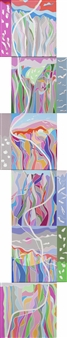 Ai-Wen Wu Kratz - Dance To The Earth Acrylic on Canvas, Paintings