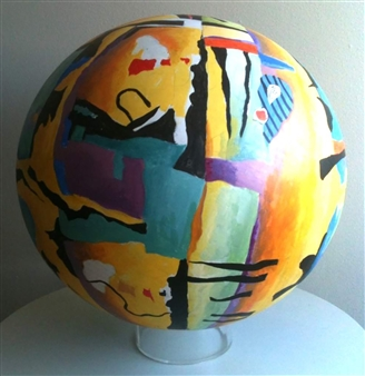 Joanne Syrop - Celestial 7 Acrylic on Wood, Sculpture