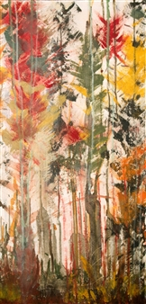 Mariela Soldano - Dawn in the Forest II Acrylic on Canvas, Paintings