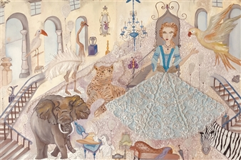 Miss C - Jane's Castle Oil on Canvas, Paintings