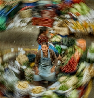 Danny Johananoff - Green Grocer Inner Circle Photograph on Plexiglass, Photography
