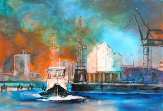 Jutta Schulte - Hamburg Acrylic on Canvas, Paintings