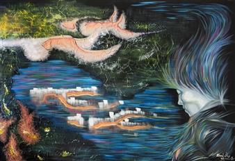 Elisabeth López - Inside the Dream Acrylic on Canvas, Paintings