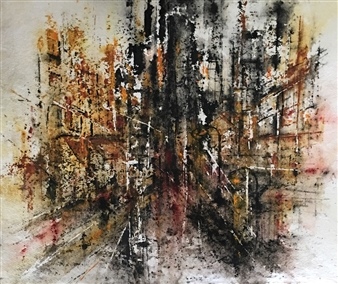 Dana Ingesson - The Gate to Eternity Watercolor on Paper, Paintings