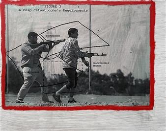 William Atkinson - Turbulence 4 Mixed Media on Board, Mixed Media