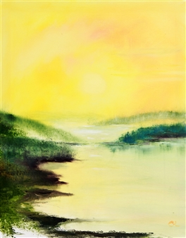 Christine Lückmann - The Beautiful Day Oil on Canvas, Paintings