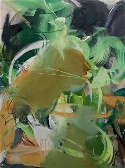 Abreesha Jones - Alleviate Confusion Acrylic, Spray Paint, Oil Pastel on Canvas, Mixed Media