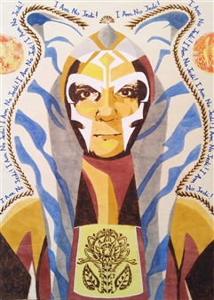 Carlo Proietto - I Am No Jedi! Pyrography, Paintings