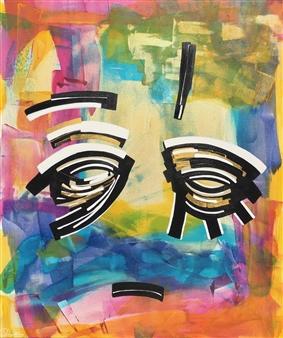 Talal Chadli - Untitled 1 Acrylic on Canvas, Paintings