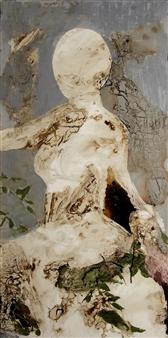 Fariba Baghi - Lady Moon Acrylic & Oil on Canvas, Paintings