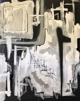 William Atkinson - I Cloak Myself in the City of You Mixed Media on Canvas, Mixed Media