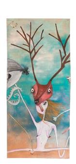 Mar De Redin - La Suerte en el Culo_A2 Acrylic & Mixed Media on Linen Canvas, Mixed Media