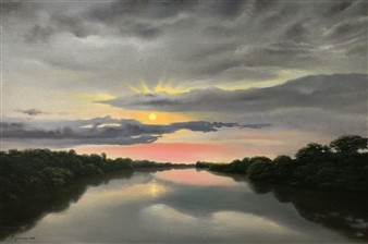 Mauricio Valdiviezo - Ocaso Oil on Canvas, Paintings