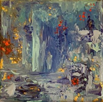 Jodi DeCrenza - Paradis Tranquille Acrylic on Canvas, Paintings