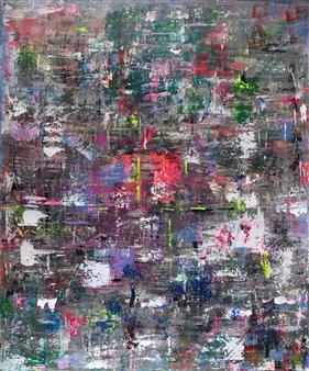 Jeannette Dannehl - Silent Fireworks Acrylic on Canvas, Paintings