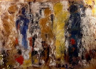 Vasant Dora - Untitled 02 Oil on Canvas, Paintings