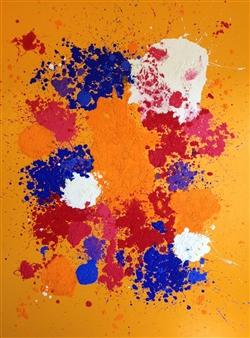 Mario España - Joy Oil on Canvas, Paintings