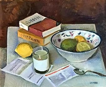 Hana Vater - Still Life with Milk_1 Oil on Canvas, Paintings