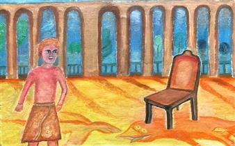 Merab Kardava - Caesar and Rome Oil on Canvas, Paintings
