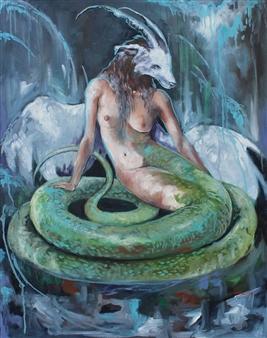 Jenny Blomquist - Kimeria Oil on Canvas, Paintings