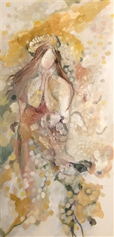 Fariba Baghi - Goddess Oil & Mixed Media on Canvas, Mixed Media