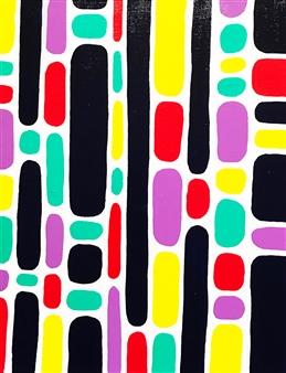 Hiroko Saigusa - Television Acrylic on Canvas, Paintings