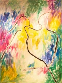 Aila Snickars - Us Acrylic on Canvas, Paintings