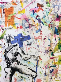 Michael Dolen - Travels with Cy Mixed Media on Paper, Mixed Media