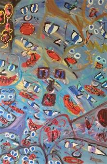 David Morrison - Swimming Pool Acrylic on Canvas, Paintings