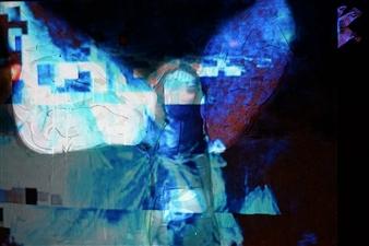 Gatscher von Burgsdorff - Immortalité Digitale IV Mixed Media on Canvas, Mixed Media