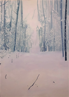 Gabriella Mirabelli - Winter: Snow Squall Acrylic on Canvas, Paintings