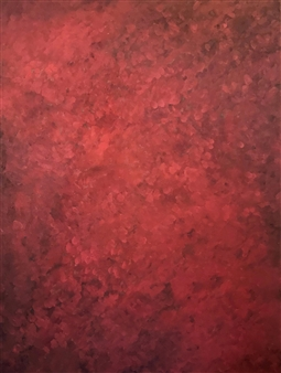 Chadwick Arcinue - Red II Oil on Canvas, Paintings