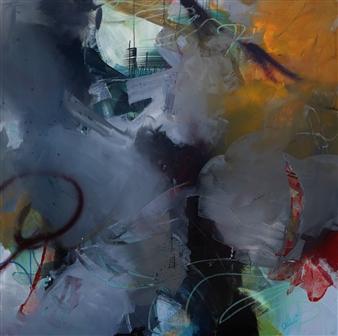 Abreesha Jones - Passionate Lessons Acrylic, Spray Paint, Oil Pastel on Canvas, Mixed Media