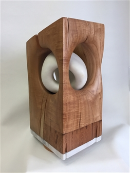 Ana Riesser - Cocoon Wood, Cedar, Shihuahuaco & Alabaster, Sculpture