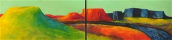 Pia Sjölin - Going to Montana  Acrylic on Aluminum, Paintings