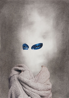 Evelyna Helmer - Dream Rooms no. 7 - Sweater Collage & Mixed Media on Paper, Mixed Media