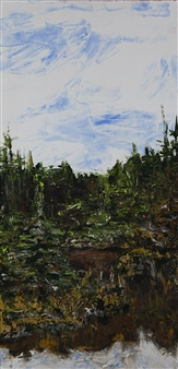 Anne E Chamness - Forest View I Acrylic on Canvas, Paintings