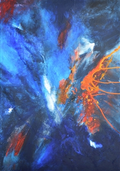 Ingrid Strecker - Sound of Music 2 Acrylic on Canvas, Paintings