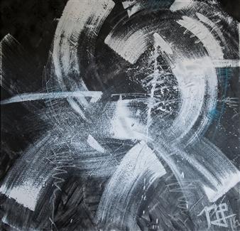 Nancy Landauer - Explosive Acrylic & Oil Pastel on Canvas, Paintings