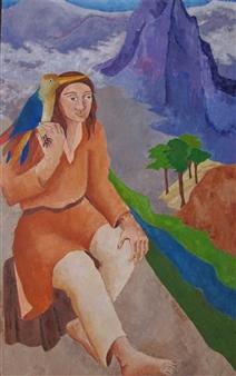 Marliese Scheller - Sérénité Oil on Masonite, Paintings