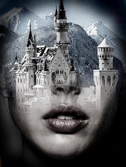 Mila Gerasimova - Winter Dreams Digital Photo Collage on Canvas, Photography