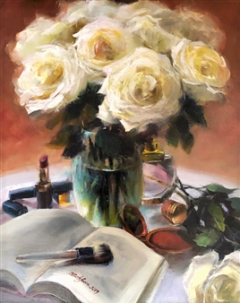 Deana Evstefeeva - Boudoir Secrets Oil on Linen, Paintings