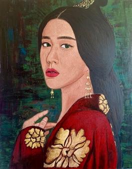 Hayam Elsayed - Self Love Acrylic on Canvas, Paintings
