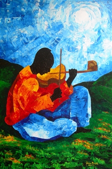 Patricia Brintle - Ti Jean - Air on the G String Acrylic on Canvas, Paintings