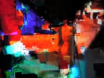 Gatscher von Burgsdorff - Immortalité Digitale VI Mixed Media on Canvas, Mixed Media